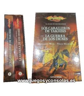 LOS CABALLEROS DE TAKHISIS / LA GUERRA DE LOS DIOSES - EL OCASO DE LOS DRAGONES - MARGARET WEIS Y TRACY HICKMAN - TIMUN MAS