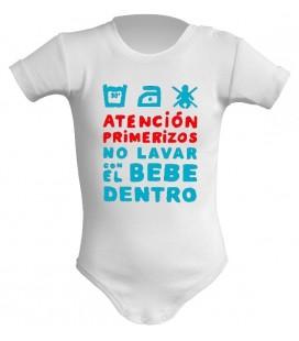 Atencion primerizos no lavar con el bebe dentro body bebe