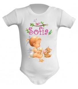 Sofia bebe y gatito con helados body bebe