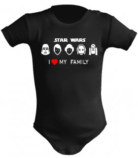 Star Wars I love my family body bebe color