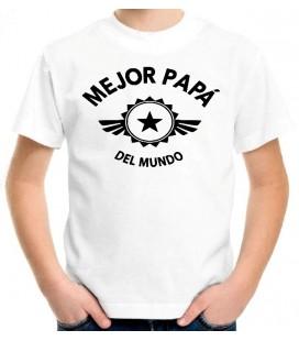Mejor Papa del Mundo camiseta blanca