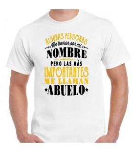 Algunas personas me llaman por mi nombre pero las mas importantes me llaman Abuelo camiseta blanca dia del padre
