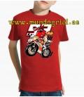 Marc Motos moto hormiga camiseta roja niño