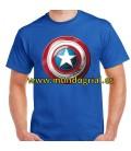 Capitan america escudo camiseta azul