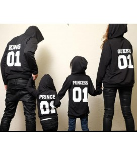 King y Queen Prince Princess sudadera con capucha