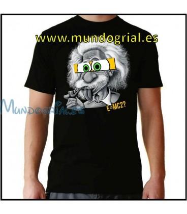Einstein camiseta negra