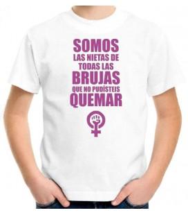 Somos las nietas de todas las brujas que no pudisteis quemar 8 de marzo camiseta blanca