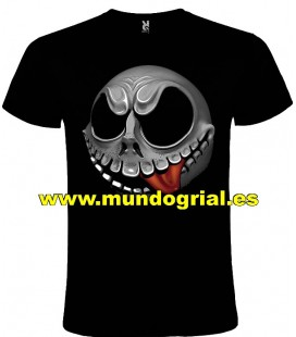NIGHTMARE BEFORE CHRISTMAS JACK CAMISETA NEGRA