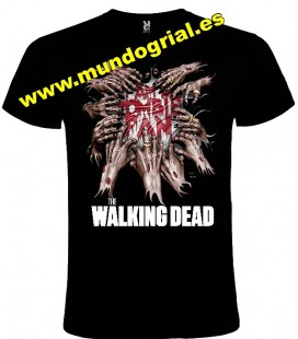 THE WALKING DEAD MANOS ZOMBIS CAMISETA NEGRA