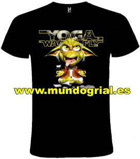 STAR WARS YODA FLY CAMISETA NEGRA