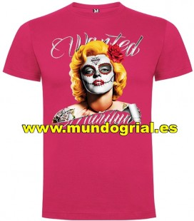MARYLYN MONROE WANTED CAMISETA