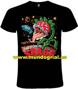 THE PLANTS SPACE PLANTAS VS ZOMBIES CAMISETA NEGRA