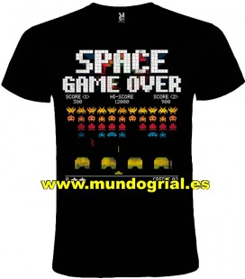 SPACE INVADERS MARCIANITOS CAMISETA NEGRA