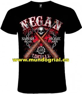 WALKING DEAD NEGAN LUCILLE CAMISETA NEGRA