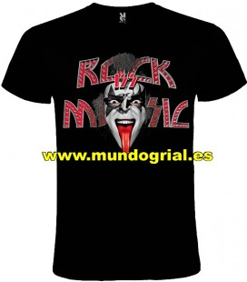 KISS ROCK MUSIC CAMISETA NEGRA
