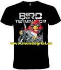 TERMINATOR ANGRY BIRDS CAMISETA NEGRA
