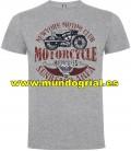 MOTOS NEWYORK MOTOR CLUB MOTORCYCLES CAMISETA GRIS