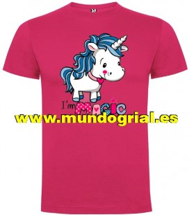 UNICORNIO I´M MAGIC CAMISETA COLOR ROSETON